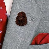 Poodle Chocolate Pin