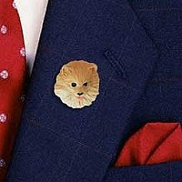 Pomeranian Red Pin