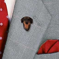 Doberman Pinscher Red w/Cropped Ears Pin