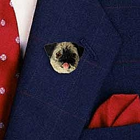 Pug Brown Pin