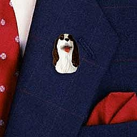 Springer Spaniel Liver & White Pin