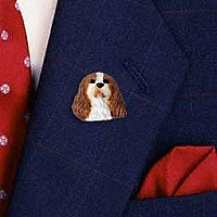 Cavalier King Charles Spaniel Brown & White Pin