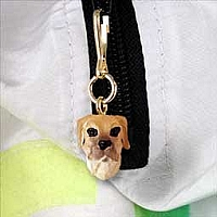 Great Dane Fawn w/Uncropped Ears Zipper Charm