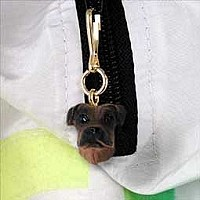 Boxer Tawny Uncropped Zipper Charm