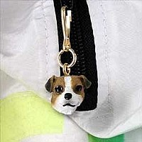 Jack Russell Terrier Brown & White w/Smooth Coat Zipper Charm