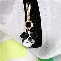 Jack Russell Terrier Black & White w/Smooth Coat Zipper Charm