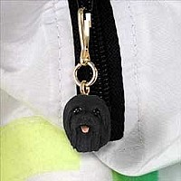 Lhasa Apso Black Zipper Charm