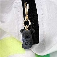 Kerry Blue Terrier Zipper Charm