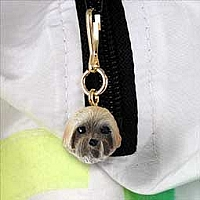 Lhasa Apso Brown w/Sport Cut Zipper Charm