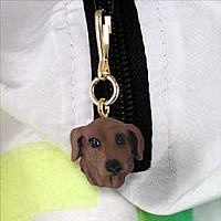 Dachshund Red Zipper Charm