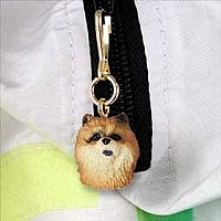 Chow Red Zipper Charm