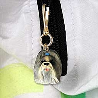 Shih Tzu Mixed Zipper Charm