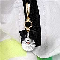 Border Collie Zipper Charm