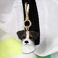 Jack Russell Terrier Brown & White w/Rough Coat Zipper Charm