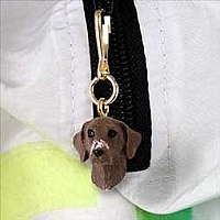 German Short Haired Pointer Zipper Charm