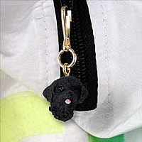 Portuguese Water Dog Zipper Charm