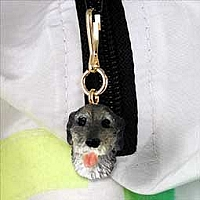 Irish Wolfhound Zipper Charm
