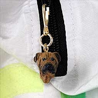 Bullmastiff Zipper Charm