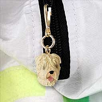 Soft Coated Wheaten Zipper Charm