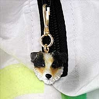 Australian Shepherd Brown Zipper Charm
