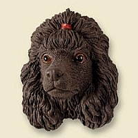 Poodle Chocolate Magnet