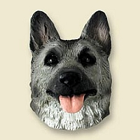 German Shepherd Black & Silver Magnet