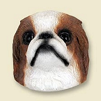 Japanese Chin Red & White Magnet