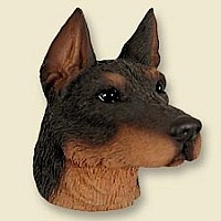 Doberman Pinscher Red w/Cropped Magnet