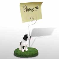 Pointer Black & White Memo Holder