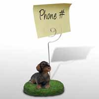 Wire Haired Dachshund Red Memo Holder