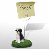 Shih Tzu Black & White w/Sport Cut Memo Holder