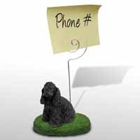 Cocker Spaniel Black Memo Holder