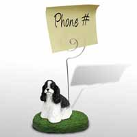 Cocker Spaniel Black & White Memo Holder