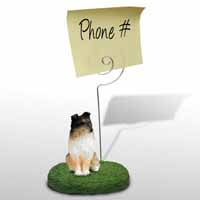 Sheltie Tricolor Memo Holder