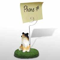 Collie Tricolor Memo Holder