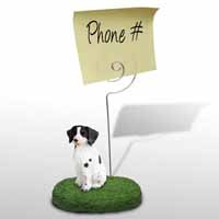 Brittany Liver & White Spaniel Memo Holder