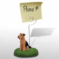 Airedale Memo Holder
