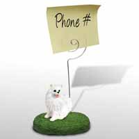 American Eskimo Miniature Memo Holder