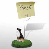 Australian Shepherd Tricolor Memo Holder