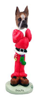 Boxer Brindle Santa Doogie Collectable Figurine