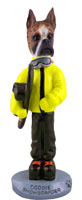 Boxer Brindle Snowboarder Doogie Collectable Figurine