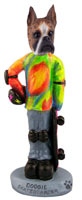 Boxer Brindle Skateboarder Doogie Collectable Figurine
