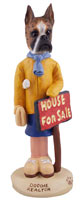 Boxer Brindle Realtor (female) Doogie Collectable Figurine
