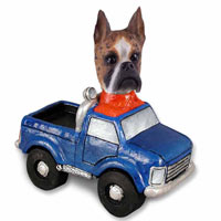 Boxer Brindle Pickup Doogie Collectable Figurine
