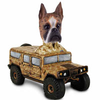 Boxer Brindle Hummer Doogie Collectable Figurine