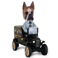 Boxer Brindle Paddy Wagon Doogie Collectable Figurine