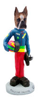Boxer Brindle Racecar Driver Doogie Collectable Figurine