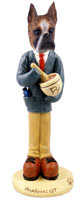 Boxer Brindle Pharmacist Doogie Collectable Figurine