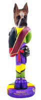 Boxer Brindle Mardi Gras Doogie Collectable Figurine