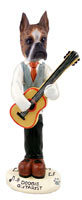 Boxer Brindle Guitarist Doogie Collectable Figurine